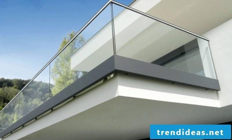 Balcony glass paneling modern look