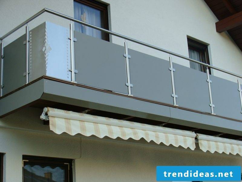 Balcony paneling stainless steel plates