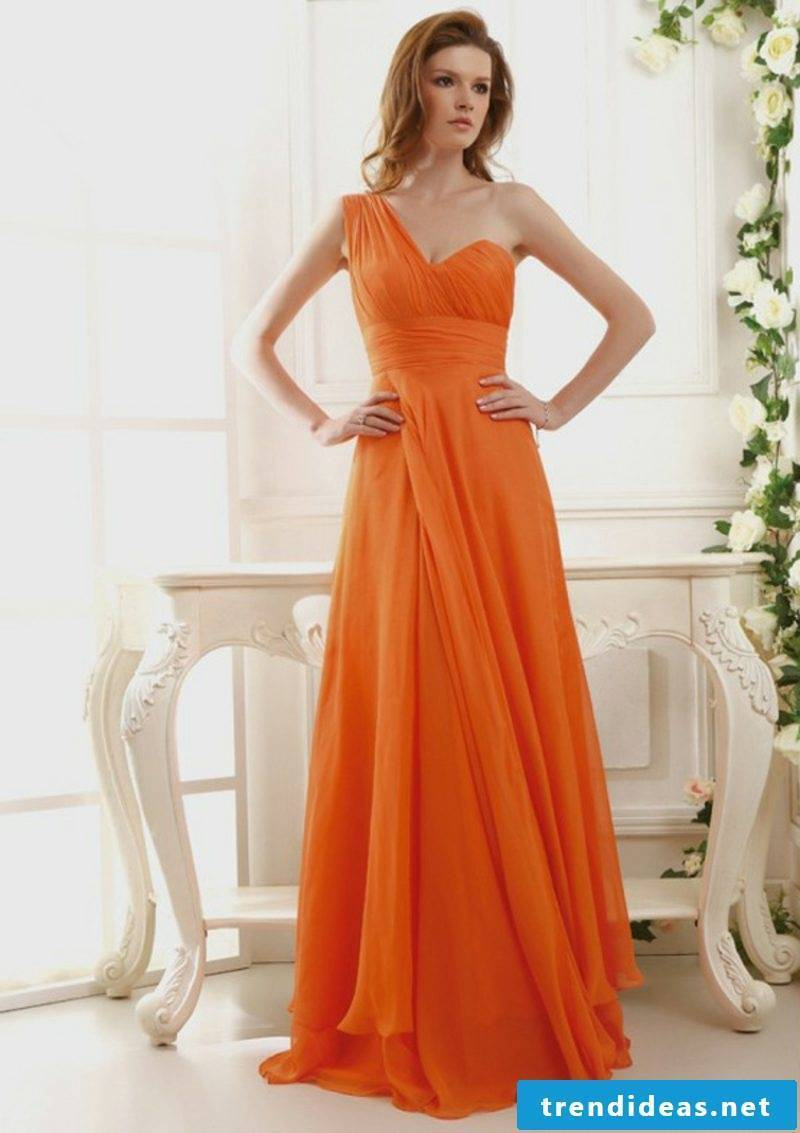 long bridal gown apricot color dark nuance