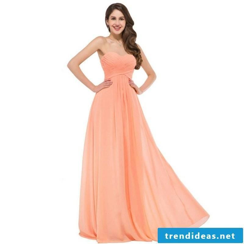 Wedding dress apricot color elegant untraditional