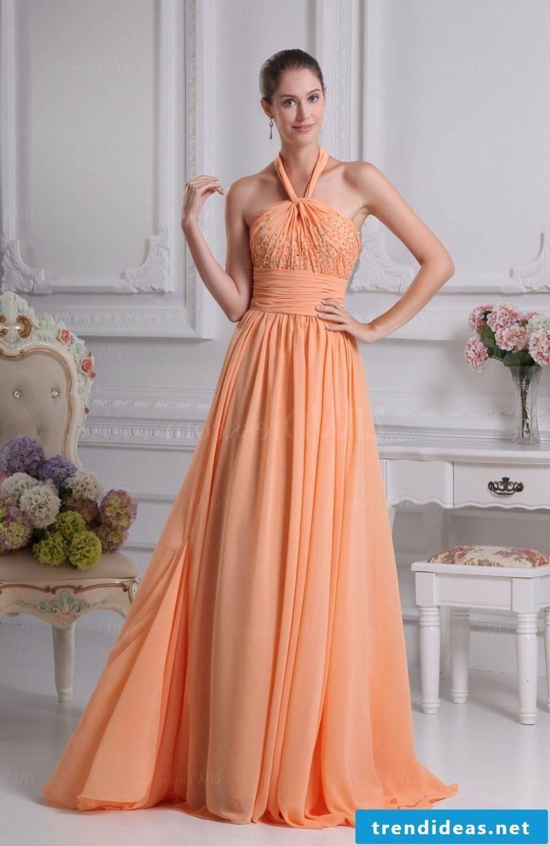 fancy wedding dress apricot color