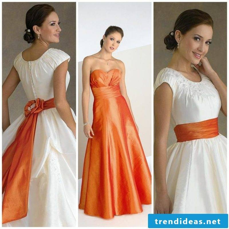 Bridal gown apricot color two visions