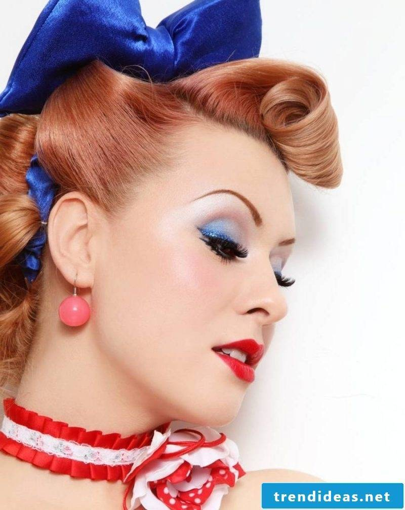 pin-up hairstyles-retro style