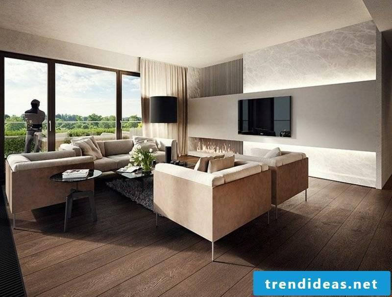 Living room ideas wall design modern