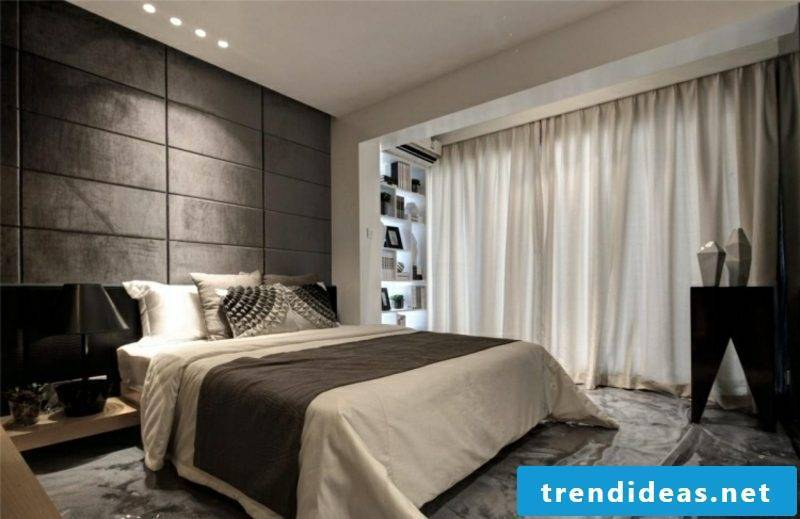 Bedroom ideas wall design upholstered wall panels
