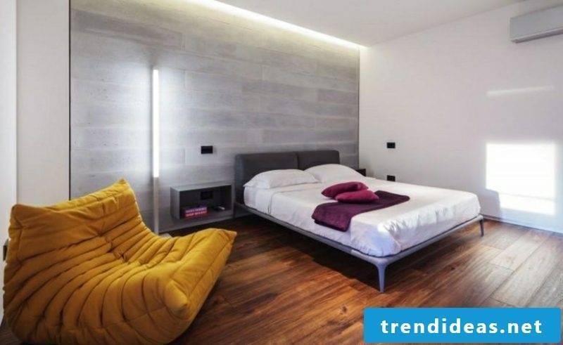 Bedroom ideas wall decoration accent wall concrete look