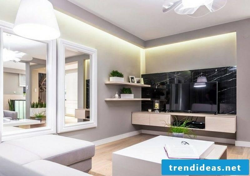 Living room wall design neutral colors