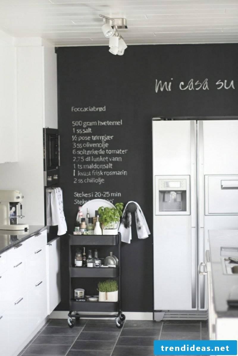 Wall decoration itself make blackboard kitchen