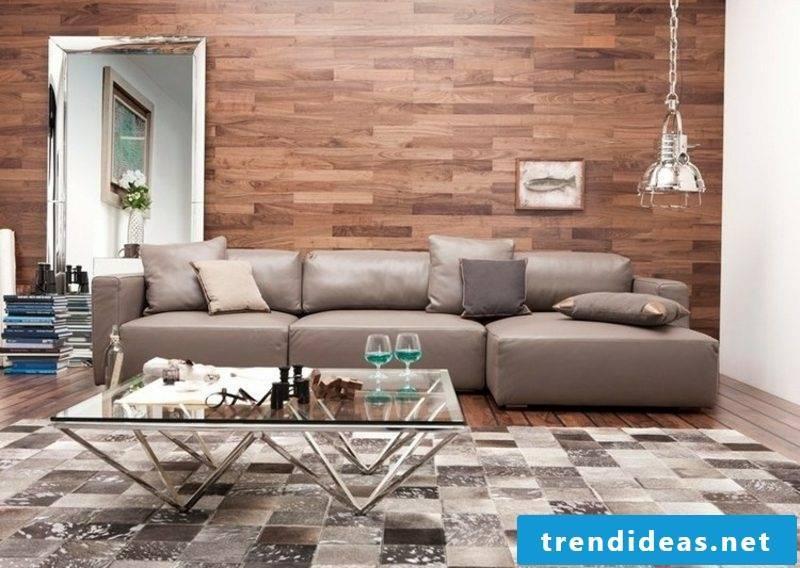 Living room wall paneling wood