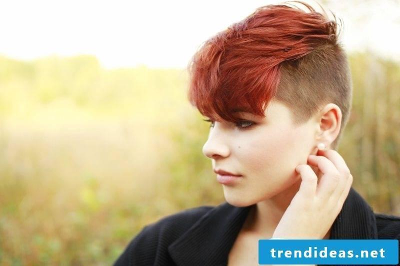 short-hair woman's hair undercut