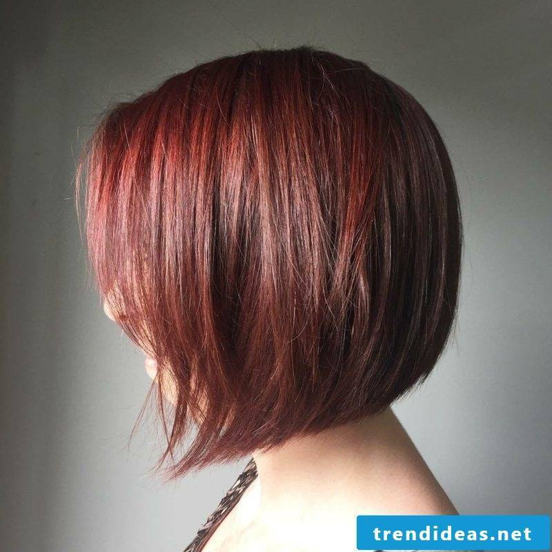 graded hairstyle red longer front