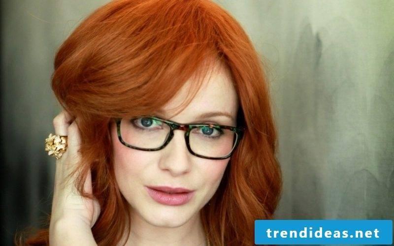 Hair dye fox red