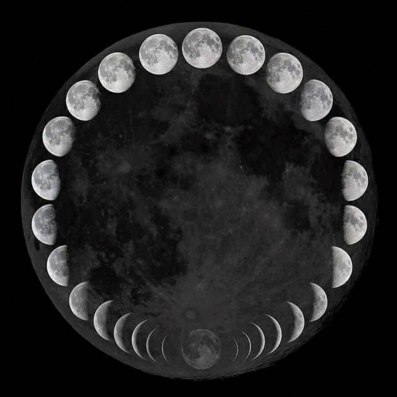 Lunar calendar 2015 different moon phases