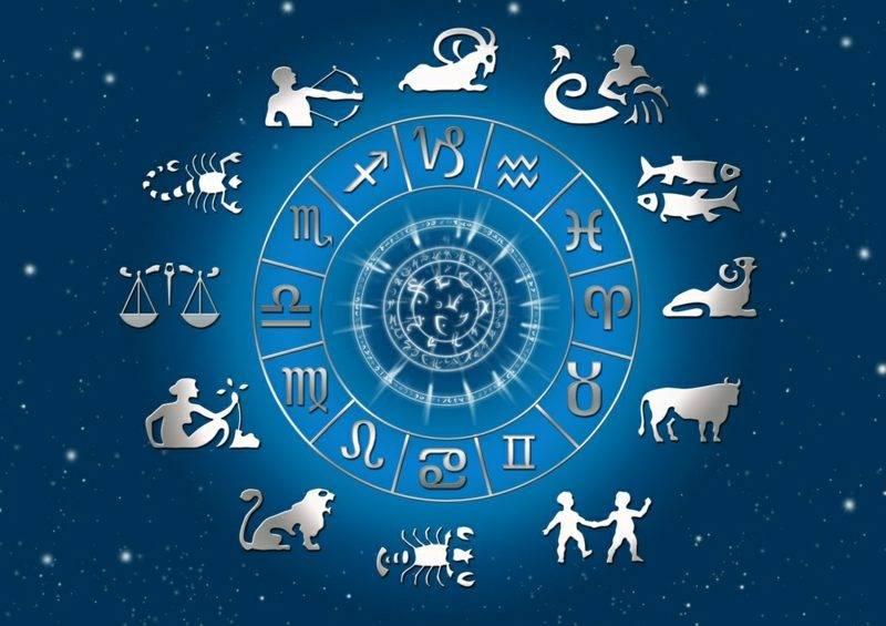 Zodiac sign with starry sky