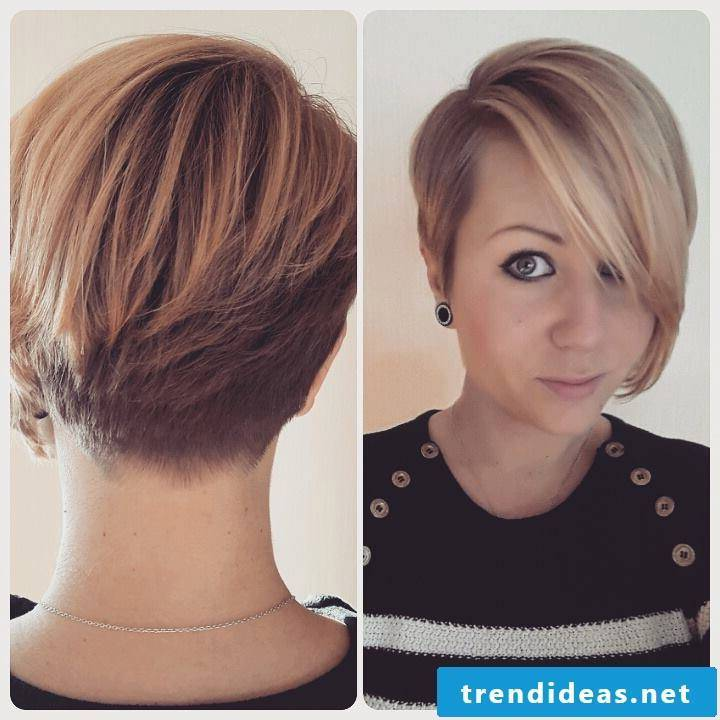 Short-haired hairstyle gives more body and movement