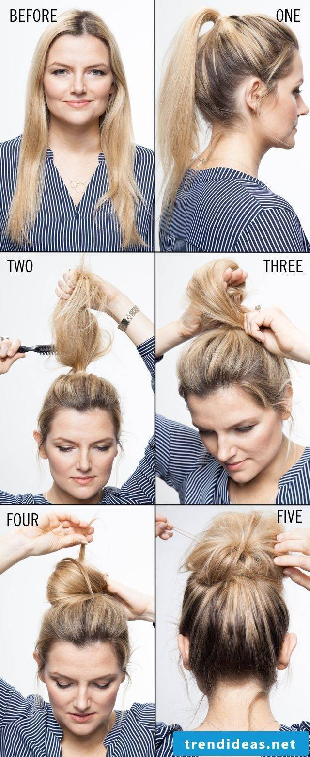 Fast hairstyle for fine hair to imitate