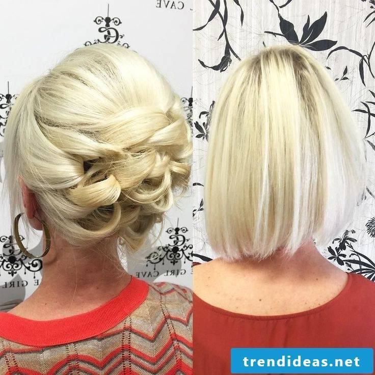 Party hairstyle for fine hair
