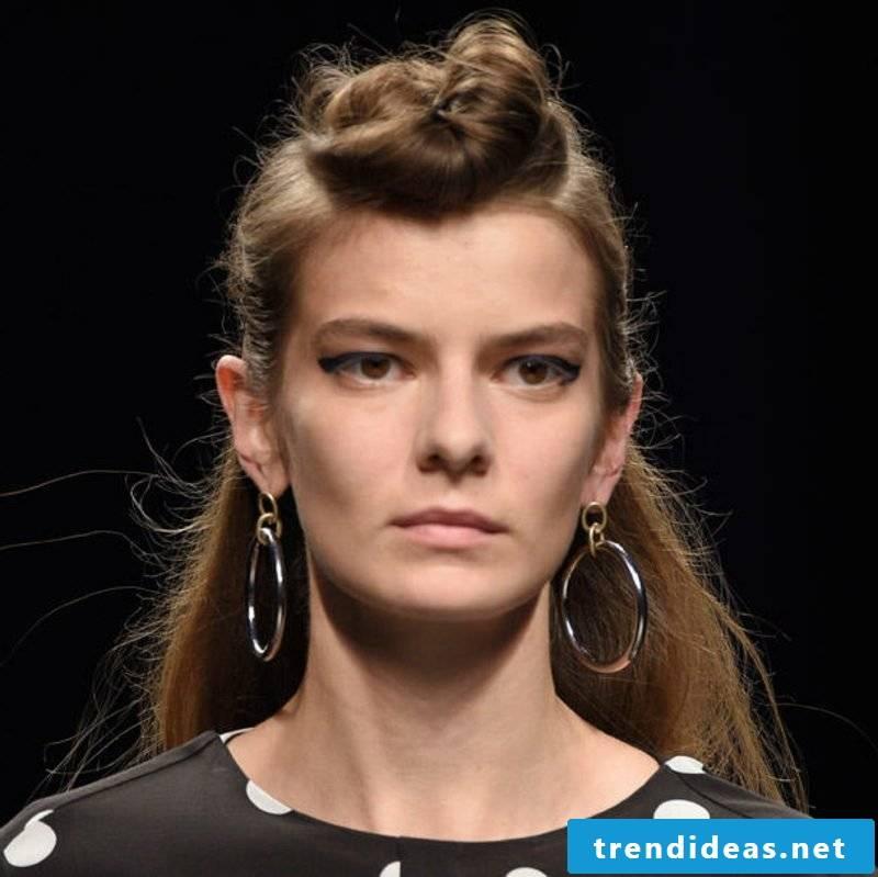 Hairstyles for long hair half open bun