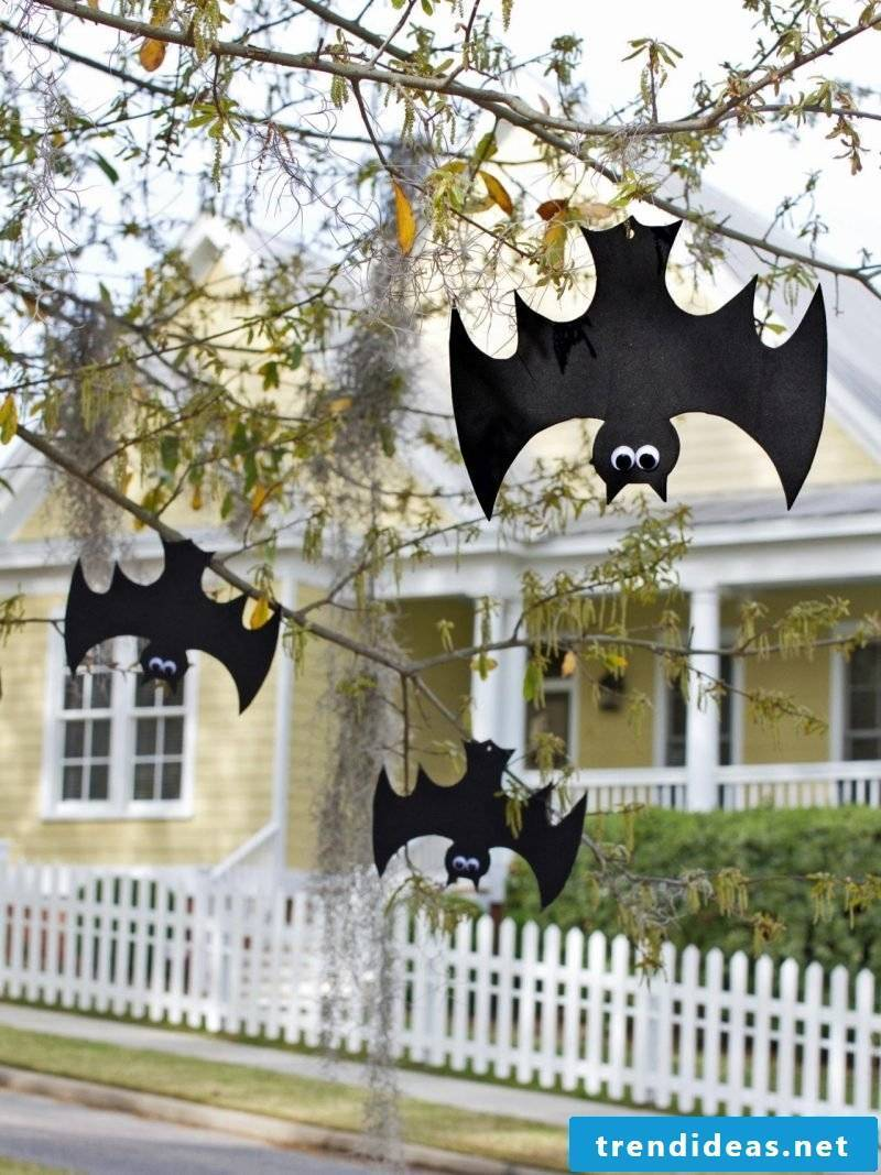 With craft templates you make bats