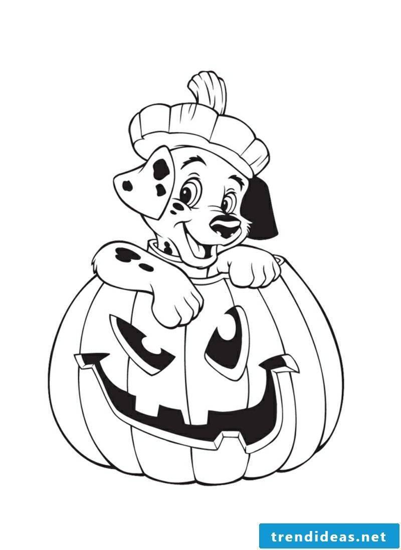 Halloween coloring page pumpkin