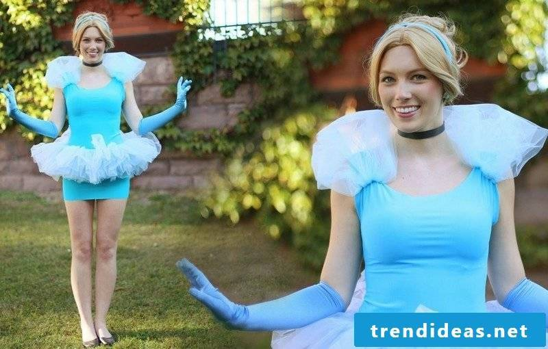 Halloween and carnival costumes themselves make Cinderella