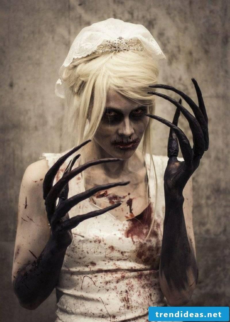 Halloween costume scary bride