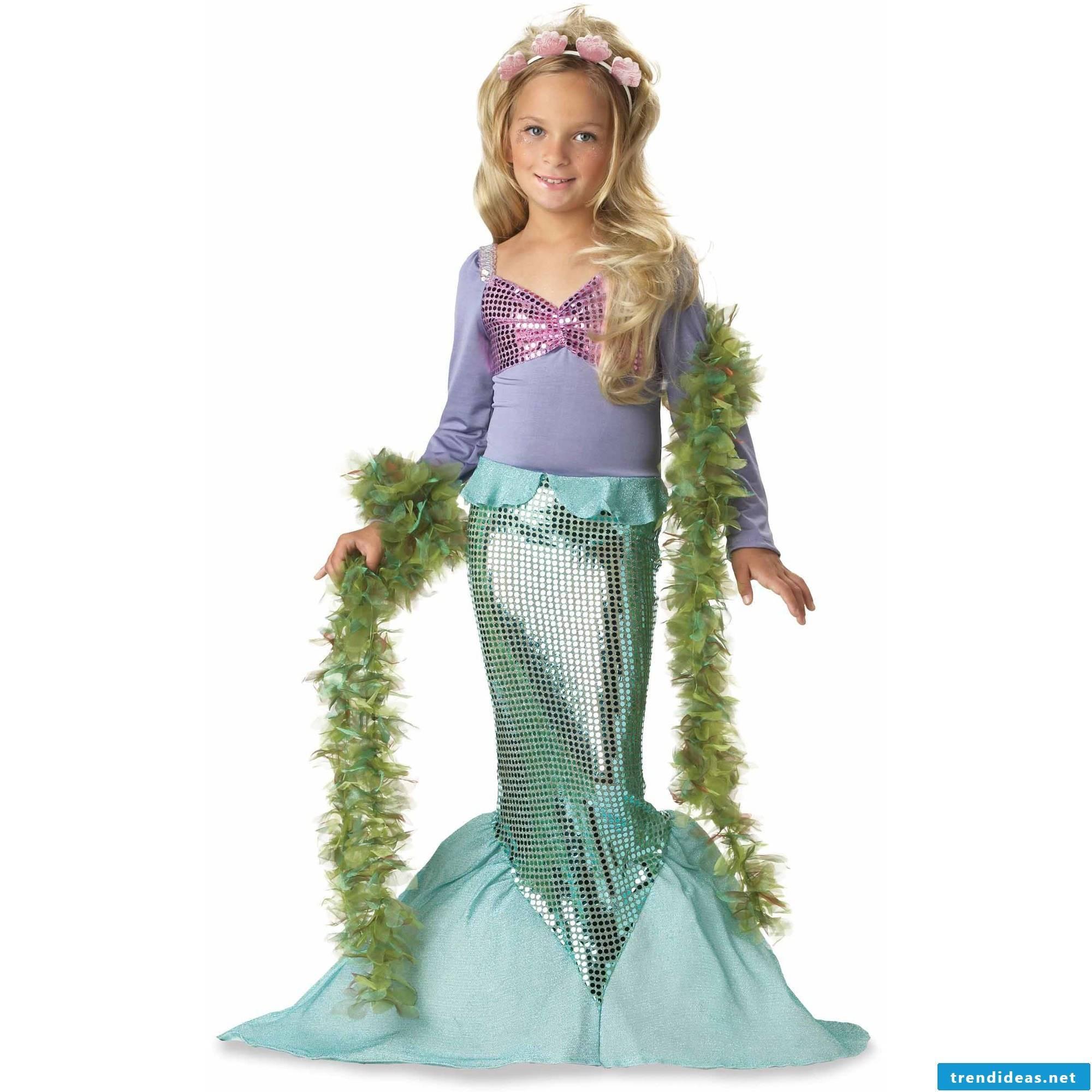 Arielle, the mermaid - a great Halloweeen costume kids