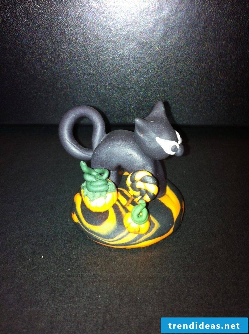 Fimo ideas for a Halloween cat