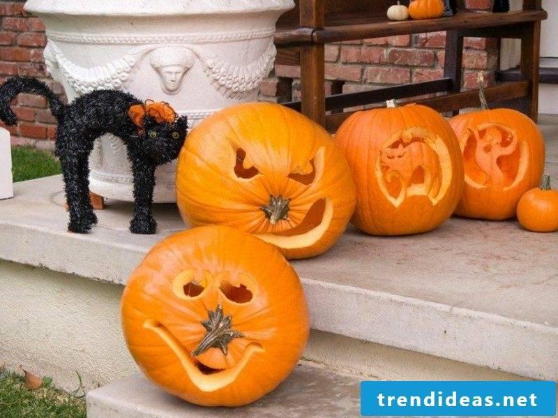 Halloween pumpkin creepy faces attractive decoration for Halloween