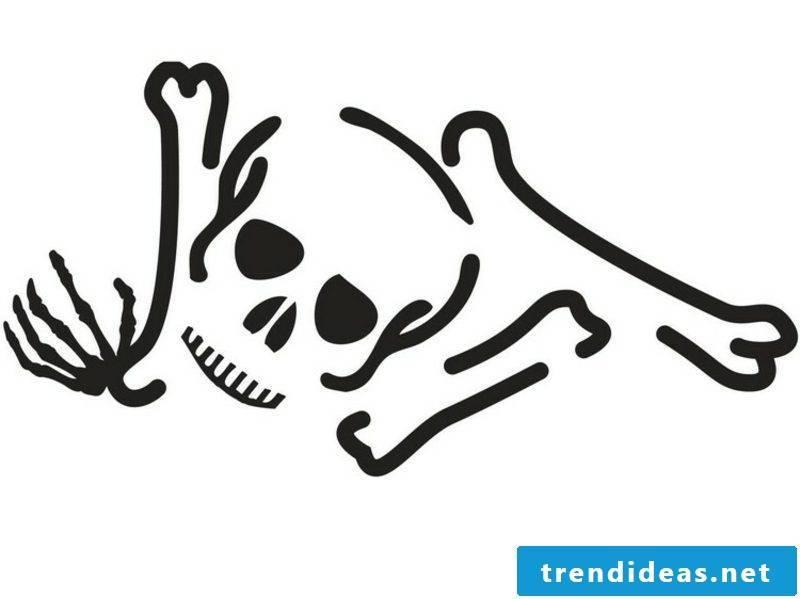 Halloween pumpkin carving templates skull and bones