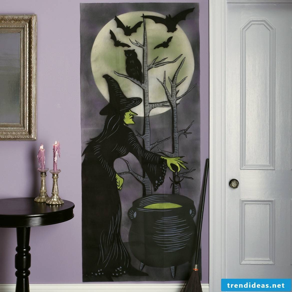 Cool deco poster with Halloween theme