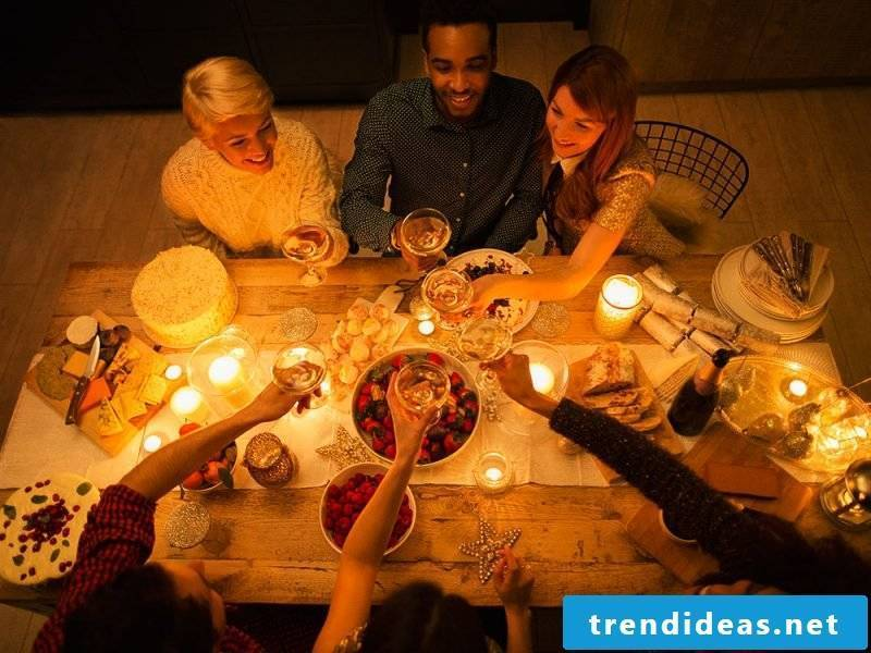 Hygge philosophy - cell phone and enjoy time with friends