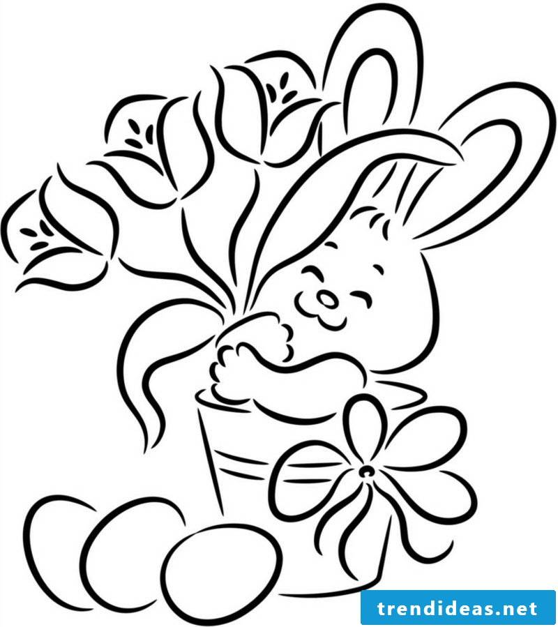 happy easter pictures bunny with flowers