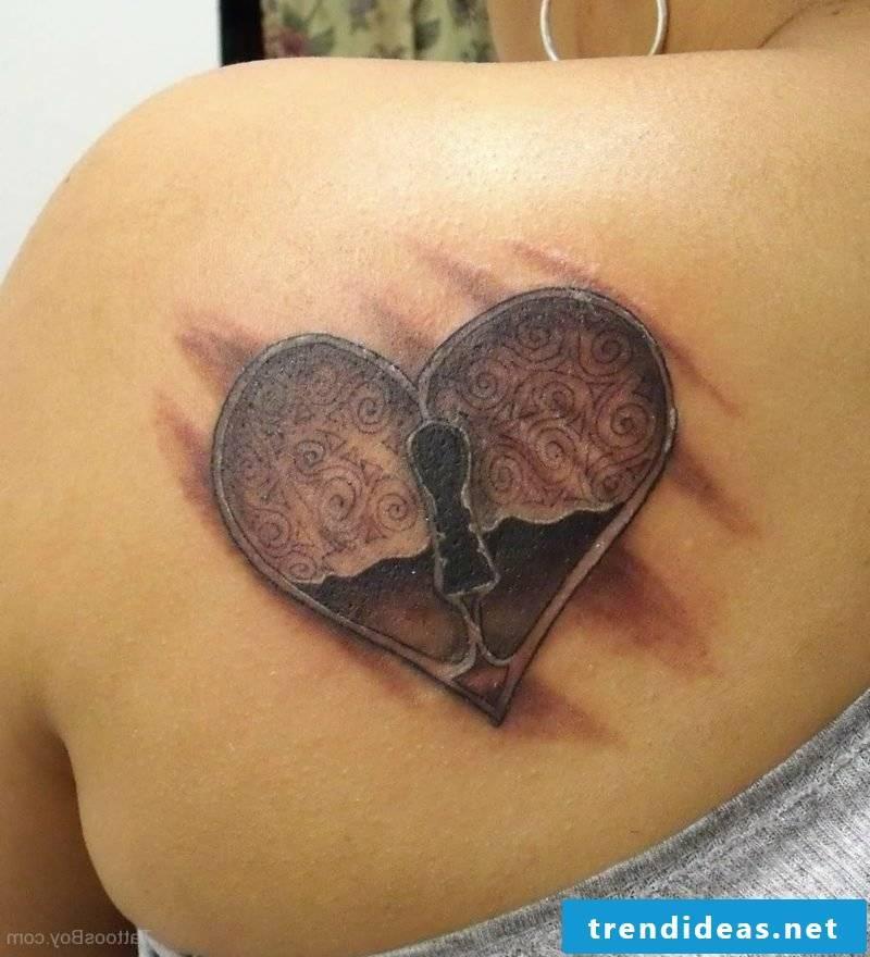 Heart Tattoo Locked Heart Tattoo On Back