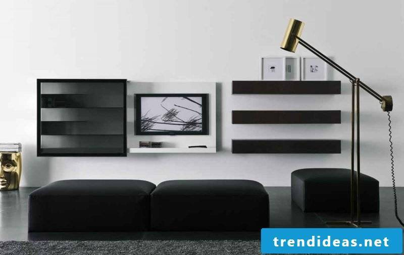Media furniture of the new generation in black!