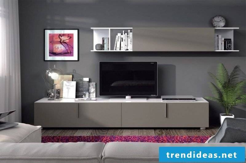 Mediamöbel: modern TV metal cabinet in gray!