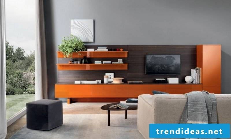 Media furniture in orange: color for every taste!