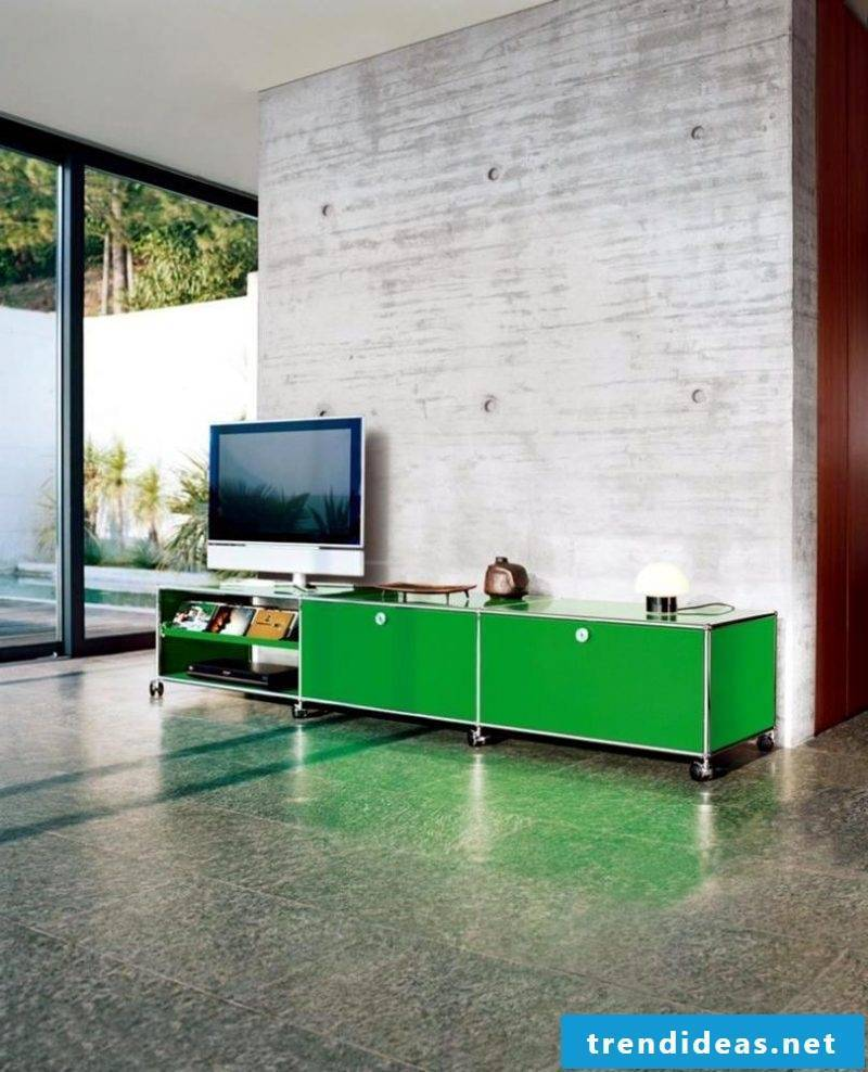 Put on media furniture in green!