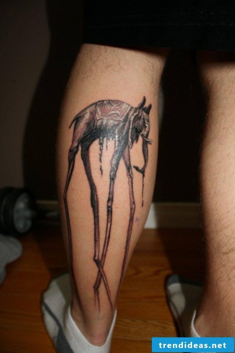 calf tattoo elephant tattoo
