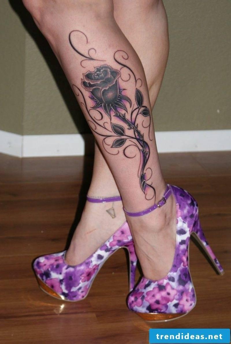 Calf tattoo