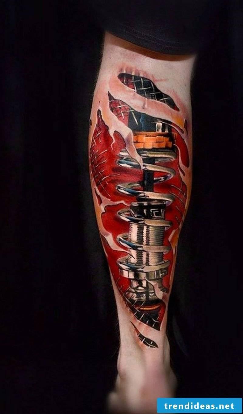 calf tattoo biomechanical