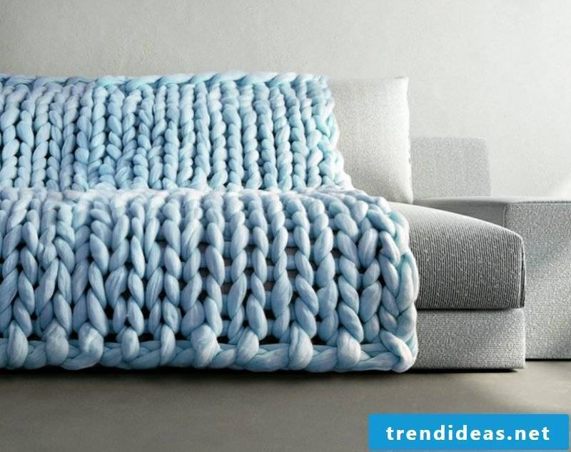 Homemade gifts knit great XXL blanket