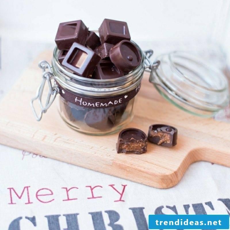 homemade gifts for Christmas chocolates