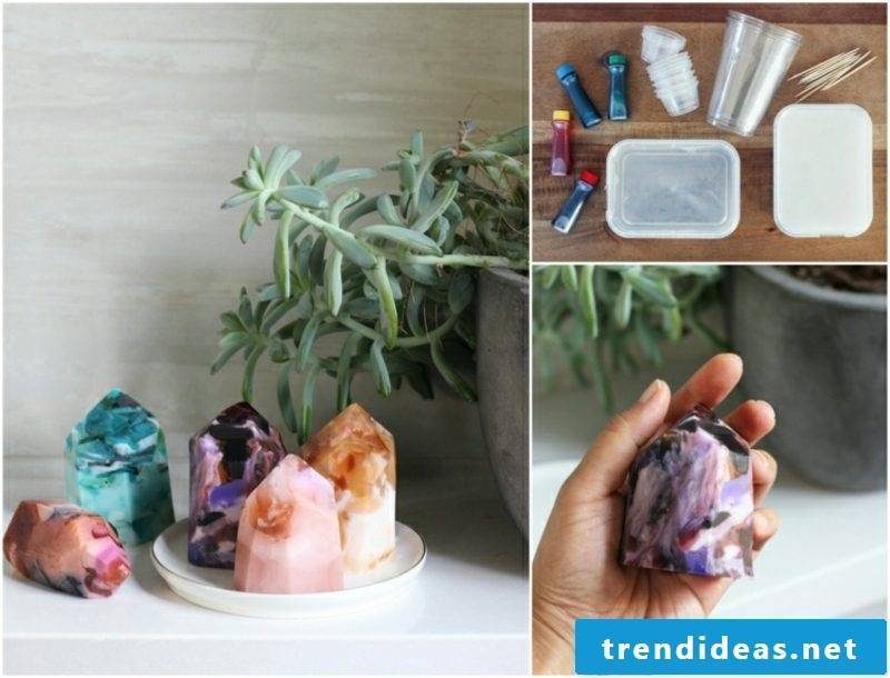 homemade gifts Christmas DIY gemstones