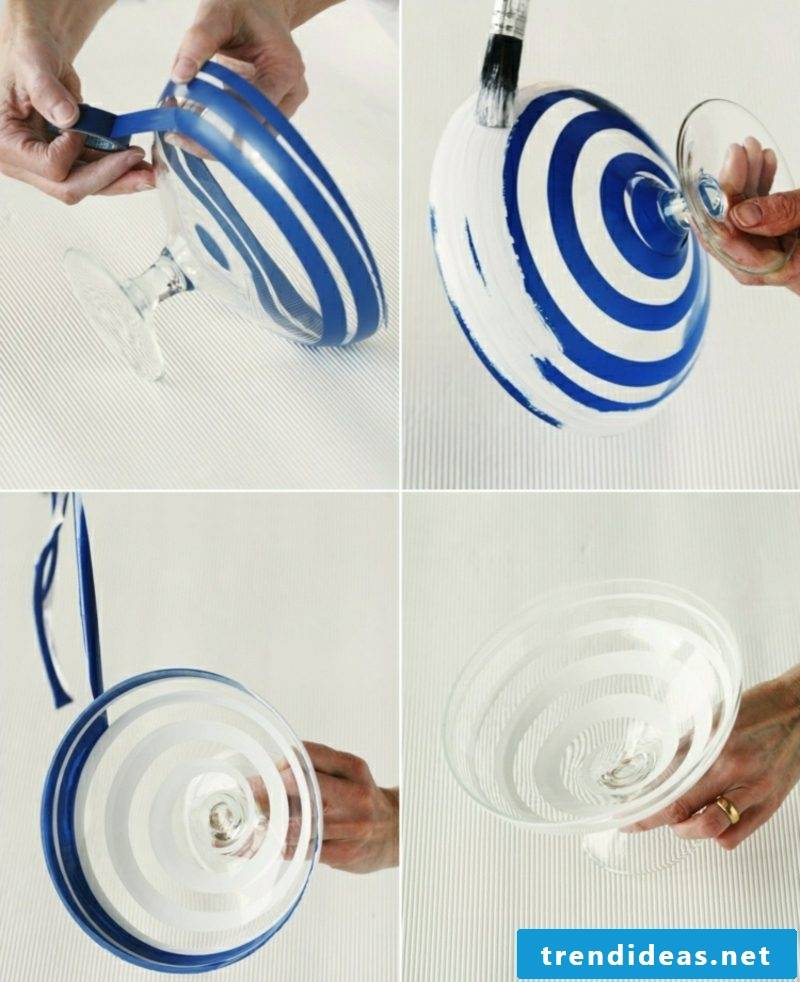 homemade gifts decorating Christmas glass bowl