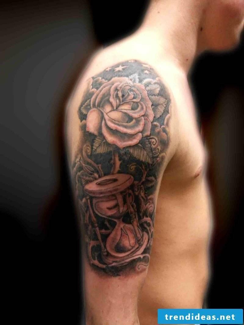 Hourglass Tattoo rose