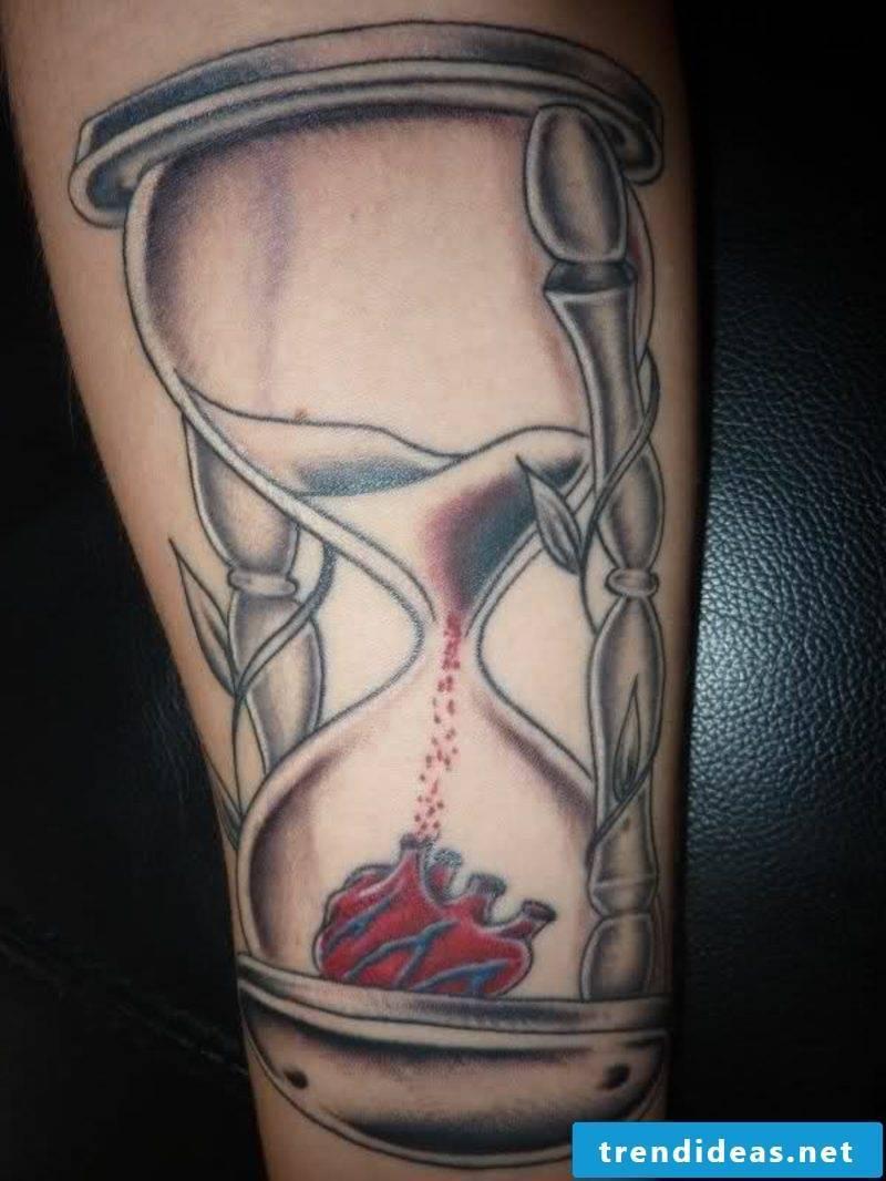 Hourglass Tattoo Heart