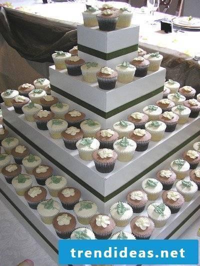 Homemade cupcake cake stand