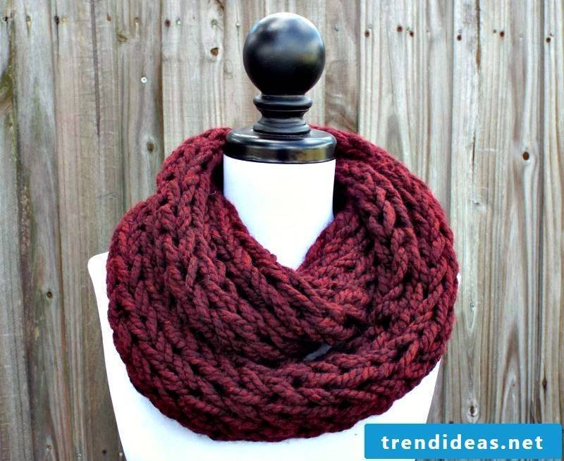 Free patent pattern for scarf knitting