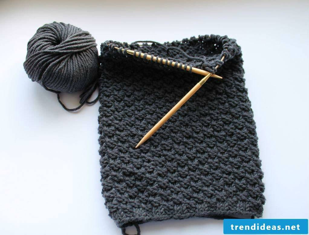Step by step: Crochet the scarf
